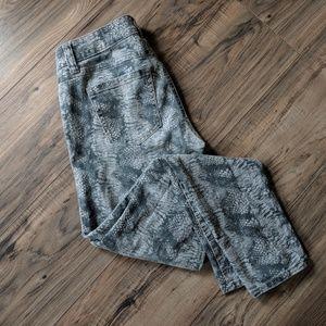 CAbi Diamondback Snakeskin Skinny Stretch Jean
